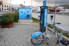 Fahrräder gibt es am Kai . . .