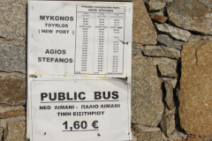 Eine Busverbindung auf der Straße ...