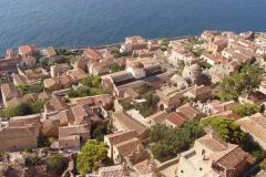 Der Blick auf die byzantinische Stadt