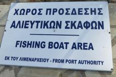 Die Plätze für die Fischerboote sollen freigehalten werden
