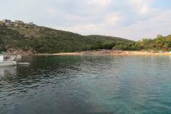 Schutz vor östlichen Winden im Ormos Fteliés im Nordwesten der Insel