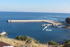 . . . die Mole , an der man . . .