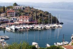 Flottille am Kai in Vathy