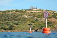 ... mit den Bojen zum Schutz der Badegäste