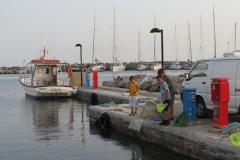 Die Mole im Norden vom Hafen