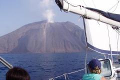 Im Herbst 2019 war der Vulkan an der Nordflanke aktiv